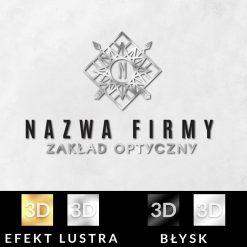 Logotyp 3d ze strzałami i gwiazdą dla optyka