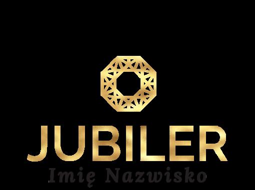Przestrzenne logo dla jubilera z geometrycznym ornamentem
