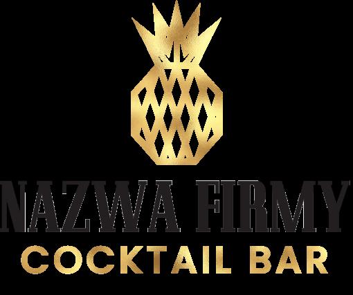 Przestrzenne logo z ananasem - cocktail bar