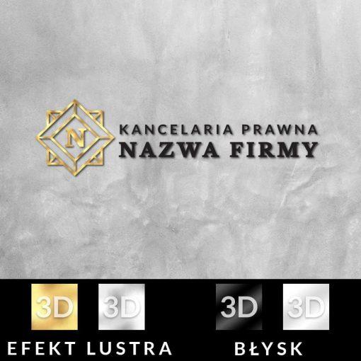 Przestrzenny logotyp dla kancelarii prawnej