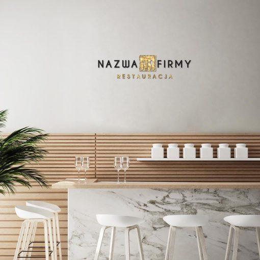 Restauracja - logotyp 3d ze sztućcami