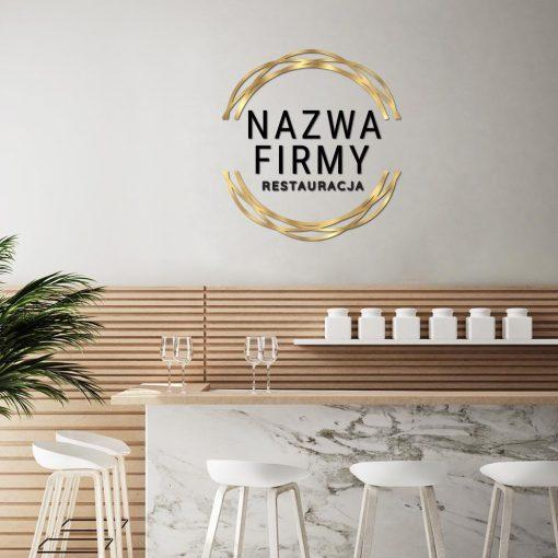 Restauracja - trójwymiarowe logo z ramką
