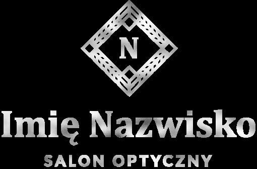 Spersonalizowane logo 3d z ornamentem i literką dla optyka