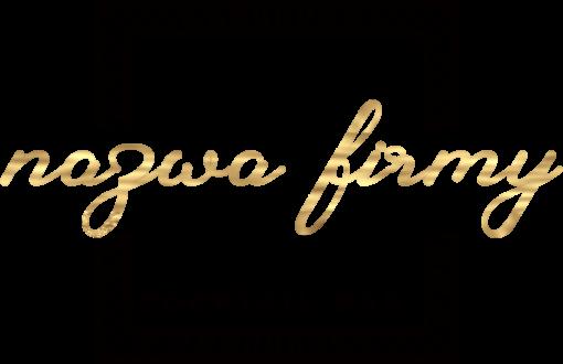 Spersonalizowane logo 3d z ramką dla cocktail baru