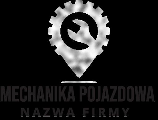 Trójwymiarowe logo z kluczem i zębatką dla mechanika
