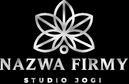 Trójwymiarowy logotyp dla szkoły jogi - kwiat lotosu