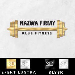 Trójwymiarowy logotyp z gryfem do klubu fitness
