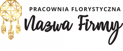 Znak firmowy 3d z łapaczem snów dla pracowni florystycznej