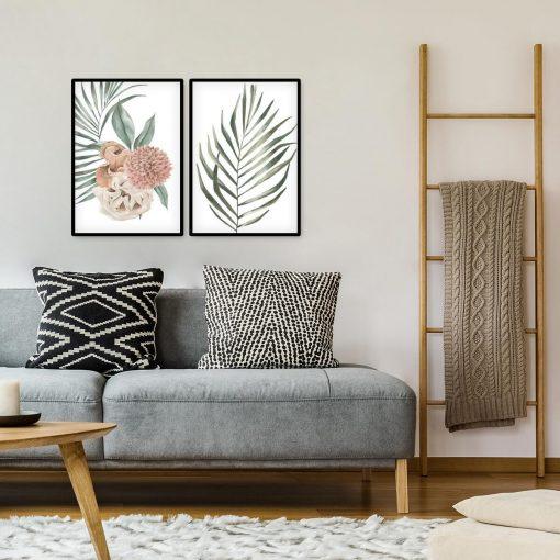 Dwa plakaty z motywem liści