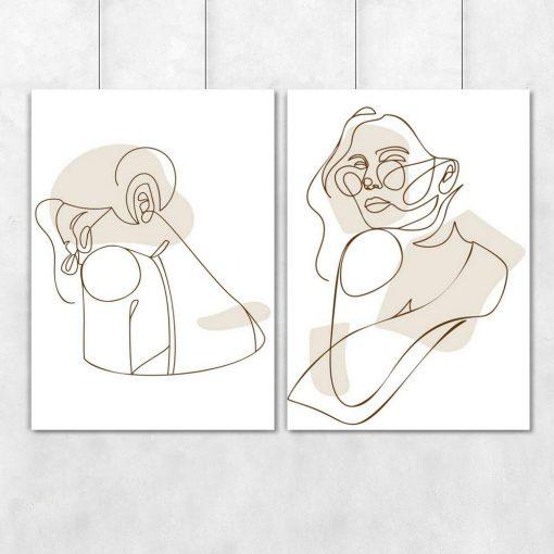 Dwa plakaty z okularniczką one color