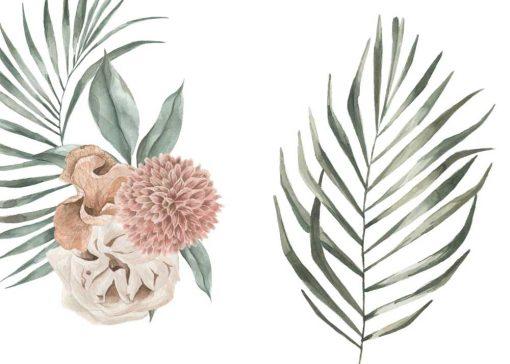Dwa plakaty z tropikalnymi roślinami