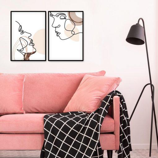 Dyptyk plakatowy w stylu minimalistycznym