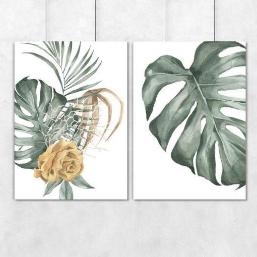 Dyptyk plakatowy z motywem botanicznym