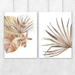 Dyptyk plakatowy z motywem liści palm