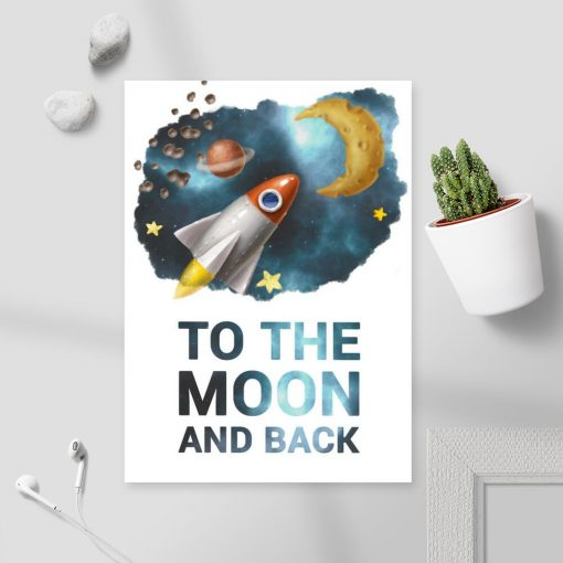 Plakat kosmiczny dla dziecka z maksymą