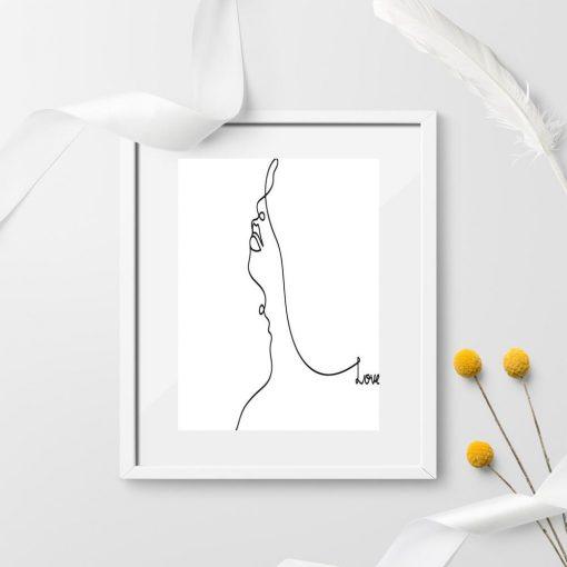 Plakat portret line art