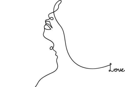 Plakat profil line art