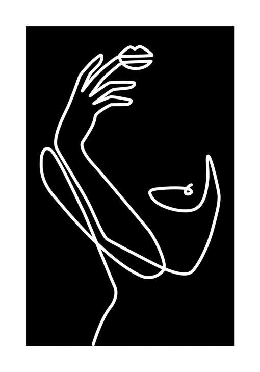 Plakat rysunek kobiecego ciała