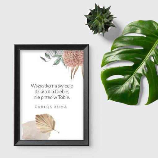 Plakat z cytatem wg Xuma