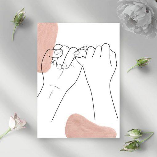 Plakat z motywem dłoni