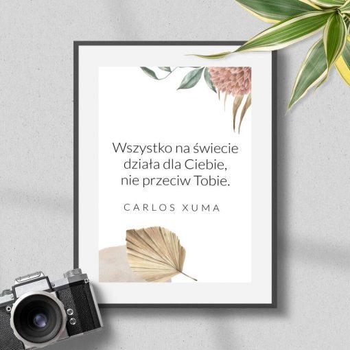 Plakat z sentencją wg Xuma