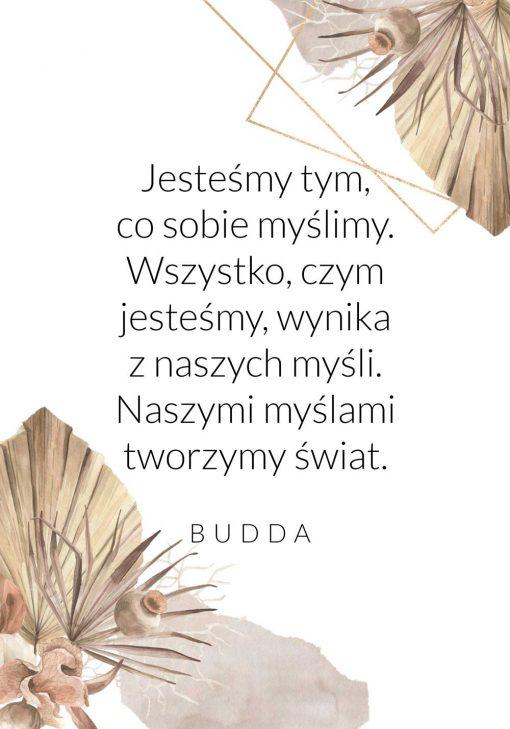 Plakat ze słowami Buddy