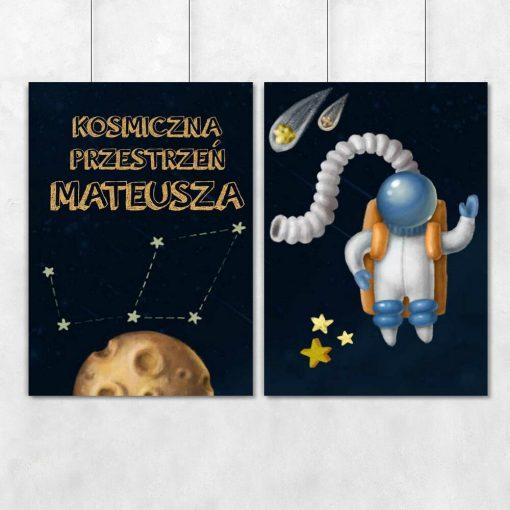 Plakaty dwa spersonalizowane dla dzieci