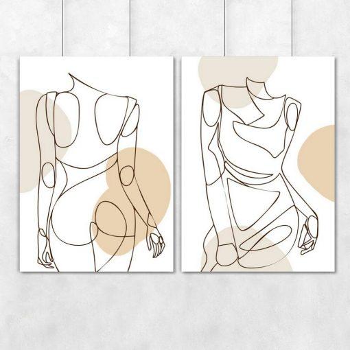 Plakaty dwa z kobietą