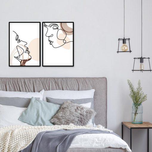 Plakaty dwa z ludźmi