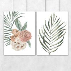 Plakaty - komplet z roślinami