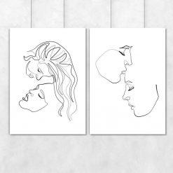 Plakaty line art - kobiety