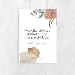 Plakaty z życiową dewizą wg Xuma