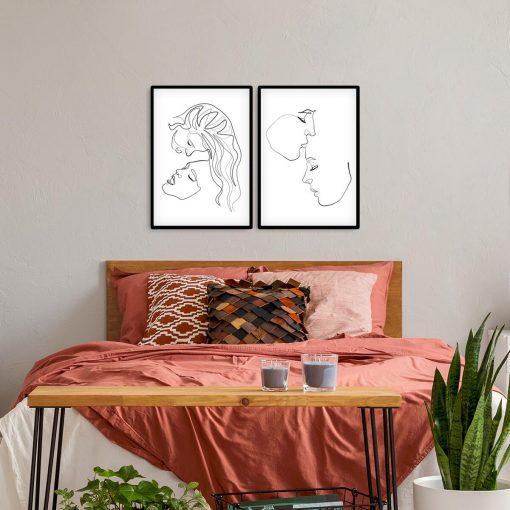 Plakaty ze szkicami kobiet