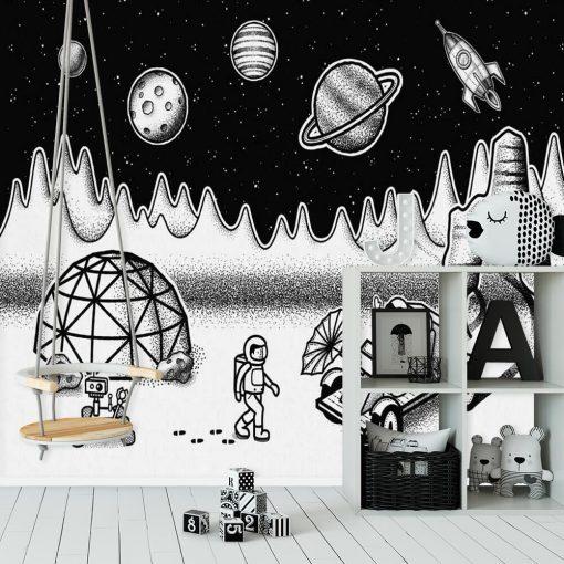 Foto-tapeta ze stacją badawczą w kosmosie