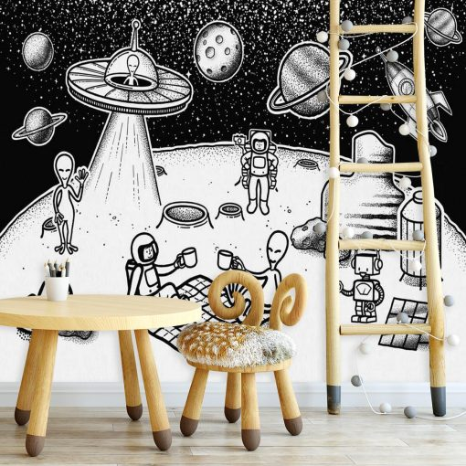 Fototapeta czarno-biała do pokoju dziecka