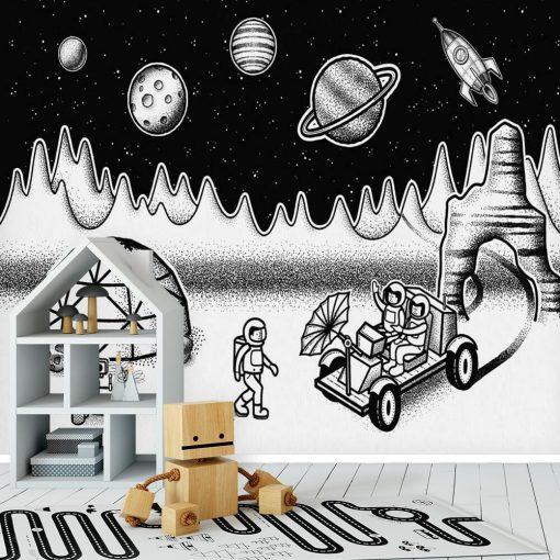 Tapeta księżycowa stacja badawcza