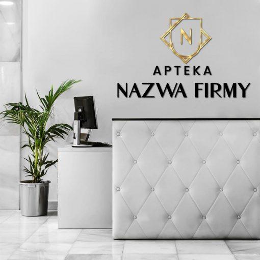 Apteka - logotyp 3d