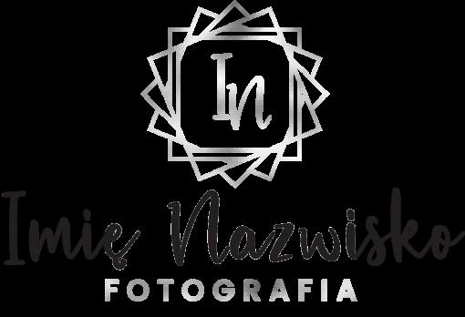 Fotograf - logo 3d z inicjałami