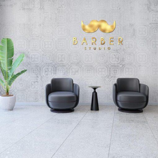 Logo 3d do barbera