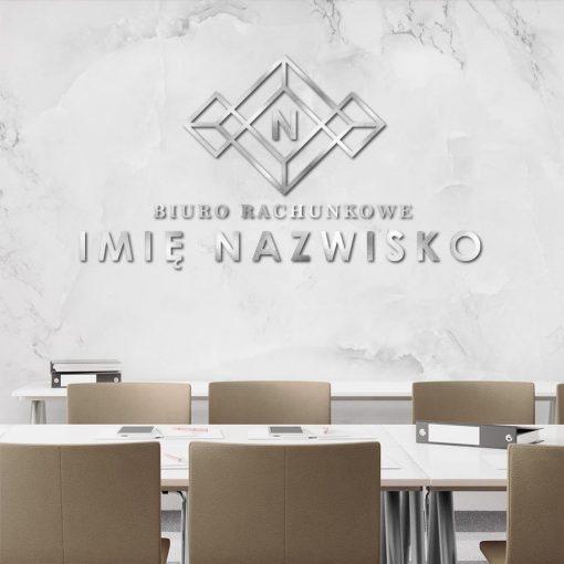 Logo 3d z literką do biura rachunkowego
