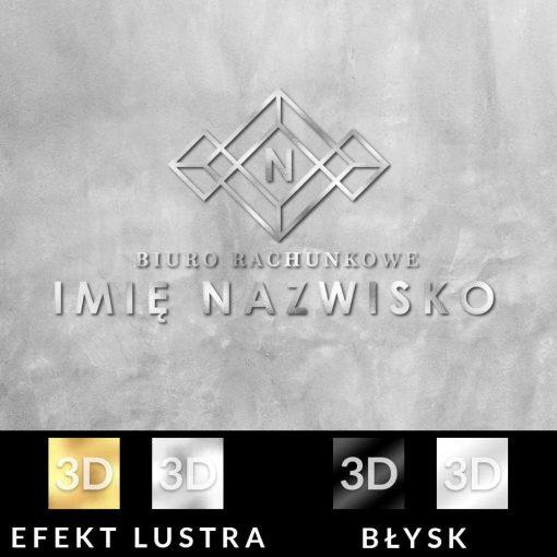 Minimalistyczny wzór i logo 3d do biura rachunkowego