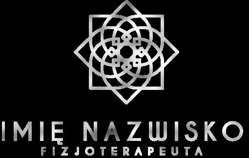 Piękny logotyp z kwiatem 3d dla fizjoterapeuty