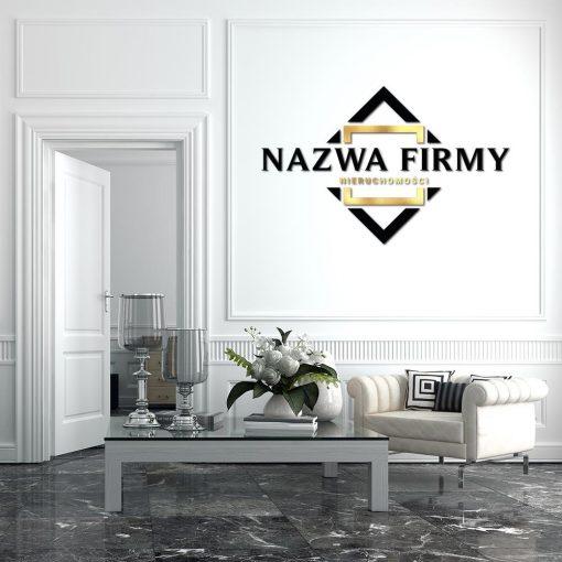 PRzestrzenne logo dla biura nieruchomości z ornamentem