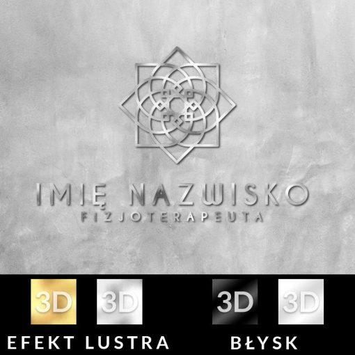Przestrzenny logotyp dla fizjoterapeuty z kwiatem