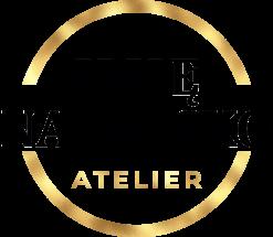 Przestrzenny logotyp z okrągłą ramką dla fryzjera