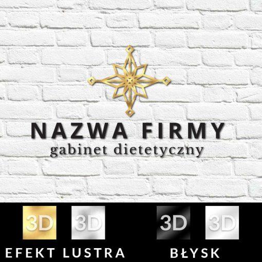 Rozeta- przestrzenny logotyp dla dietetyka