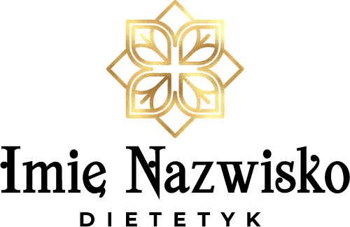 Samoprzylepny logotyp z ornamentem dla dietetyka