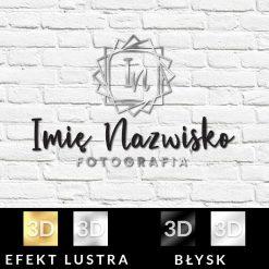 Studio fotograficzne - logo 3d z inicjałami