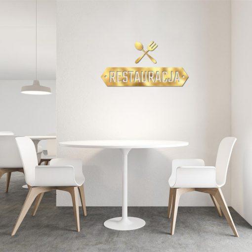 Trójwymiarowe logo do restauracji