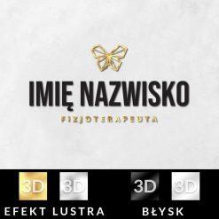 Trójwymiarowy logotyp 3d dla fizjoterapeuty z motylem